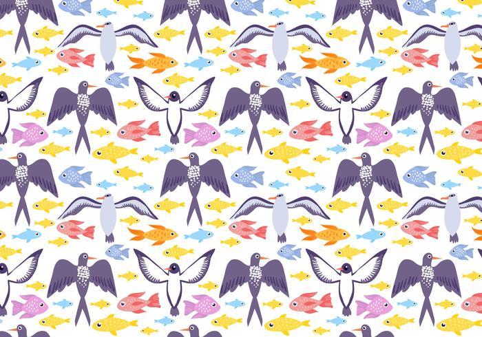 Free Sea Life Muster Vektor