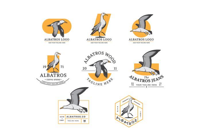 Free Vector Albatross Badges