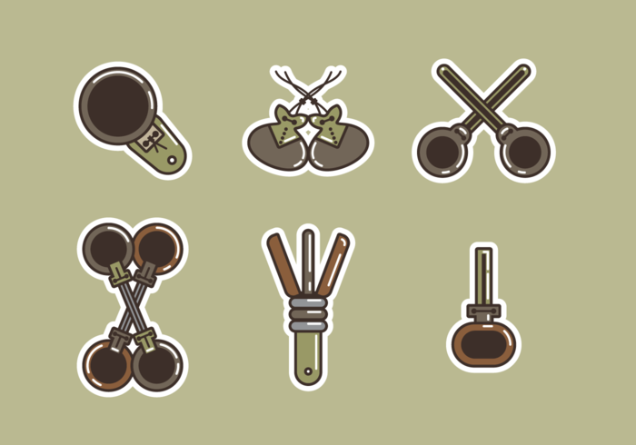 Castanetes Free Vector Pack