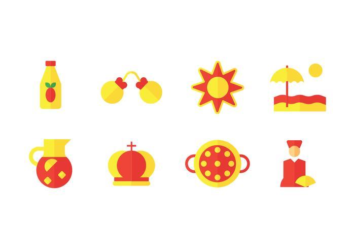 España hitos vector icono