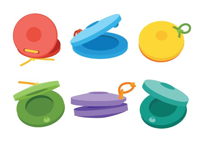 Castanets Vector Icons