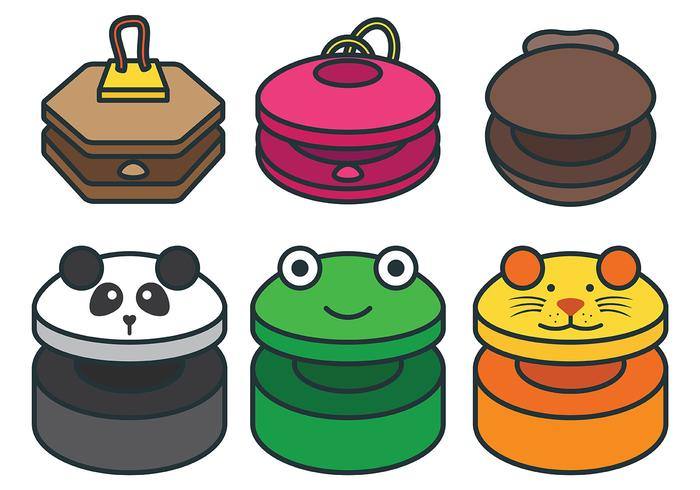 Fun Castanets Vector Icons