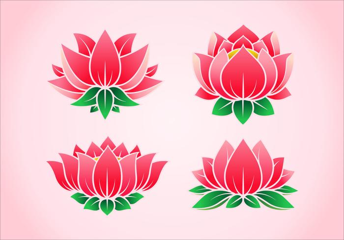Pink lotus flower vectors download free vector art stock graphics pink lotus flower vectors mightylinksfo