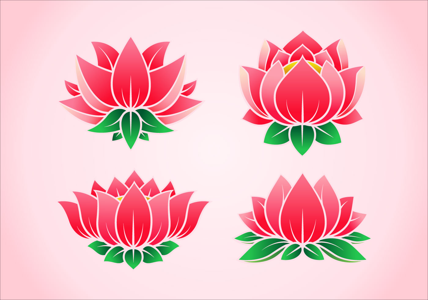 Pink Lotus Flower Vectors Download Free Vector Art Stock Graphics