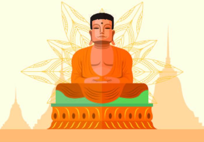 Vector Illustration Of Buddah