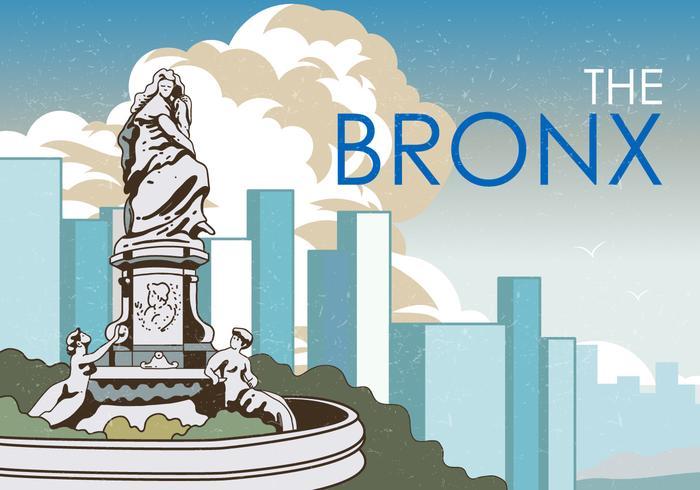 Estátua do Bronx vetor