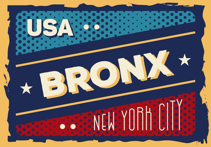 Vintage Bronx Illustration