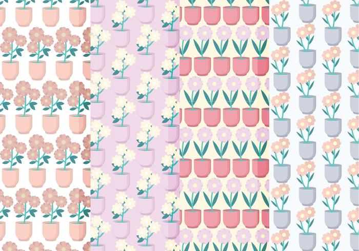 Vector overzicht bloemenpatroon