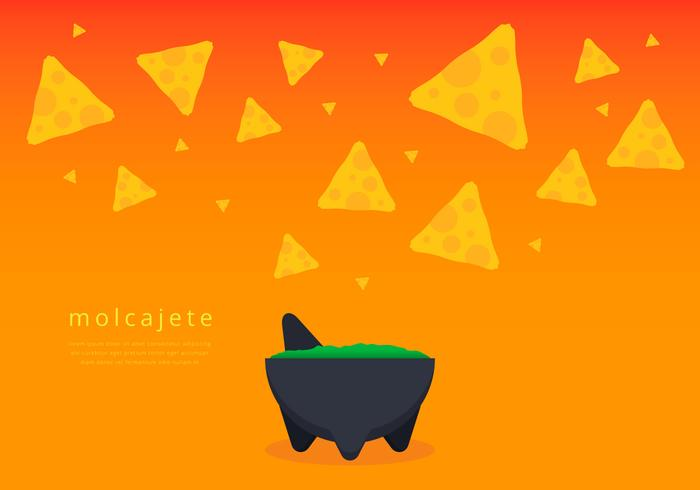 Chips and Guacamole in Moljacete Vector
