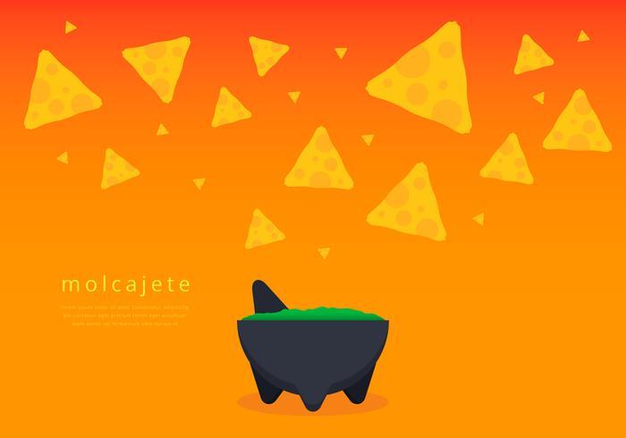 Chips e guacamole em Moljacete Vector