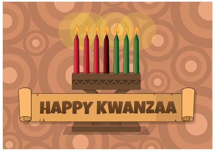 Vecteur de bougie Kwanzaa gratuit