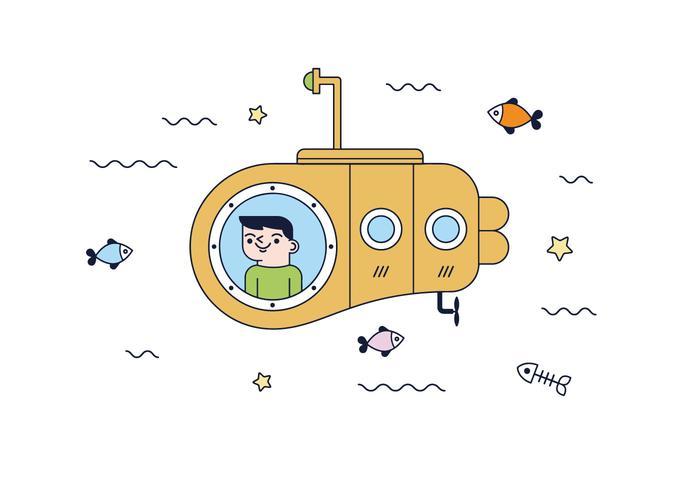 Free Submarine Vector