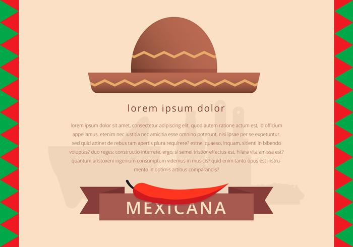 Mexican Traditional Food Menu Template Vector