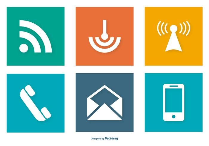 Communication Related Icon Collection Download Free Vector Art