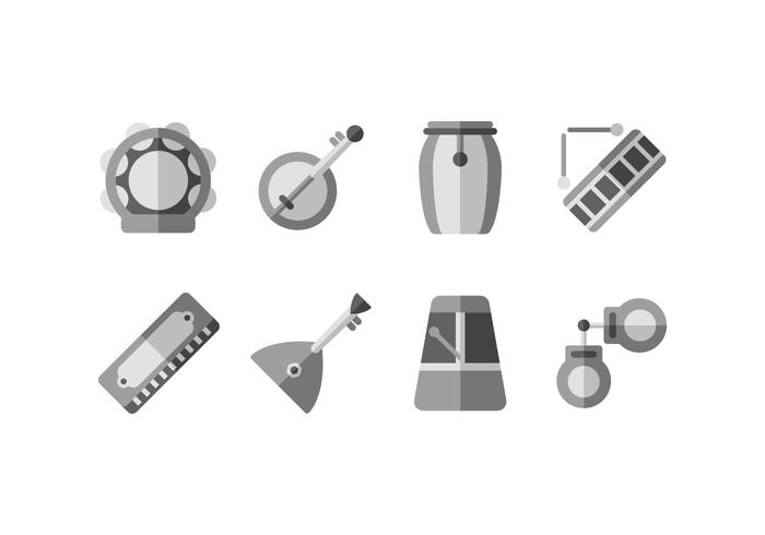 Traditional instruments vector icon