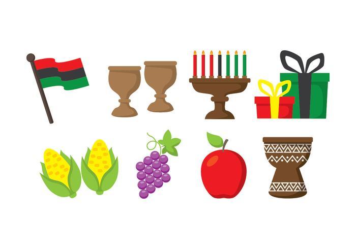 Conjunto de ícones do Kwanzaa