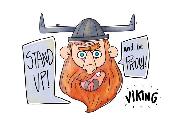 Viking vector de personagem de desenho animado