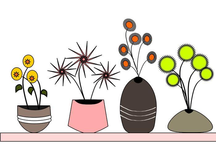 Flowerpots Vectors