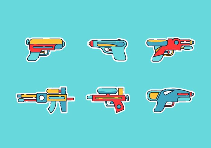 watergun free vector pack
