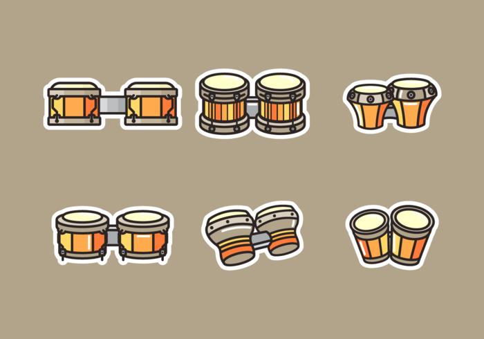 Pacote de vetores grátis para bongo
