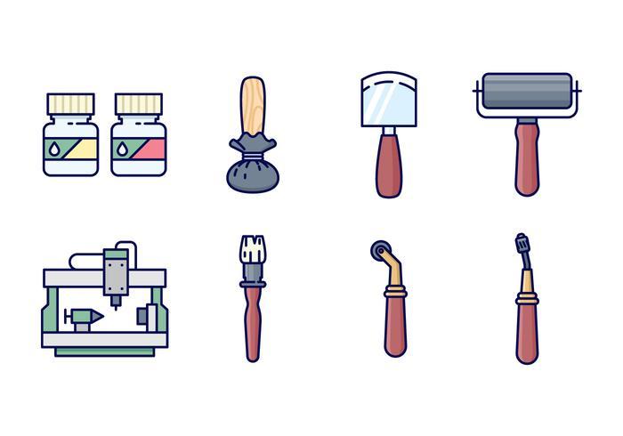 freie Tiefdruck-Icons
