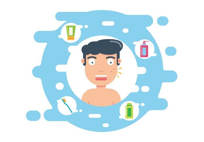 Illustration d'hygiène cutanée vecteur