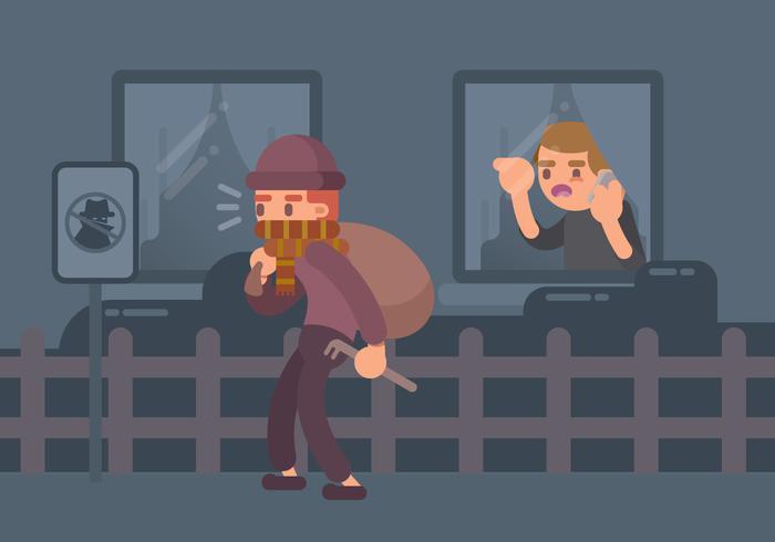 Suspicious Man Illustration