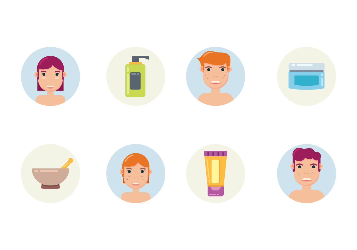 Face Skincare Icons Download Free Vector Art Stock