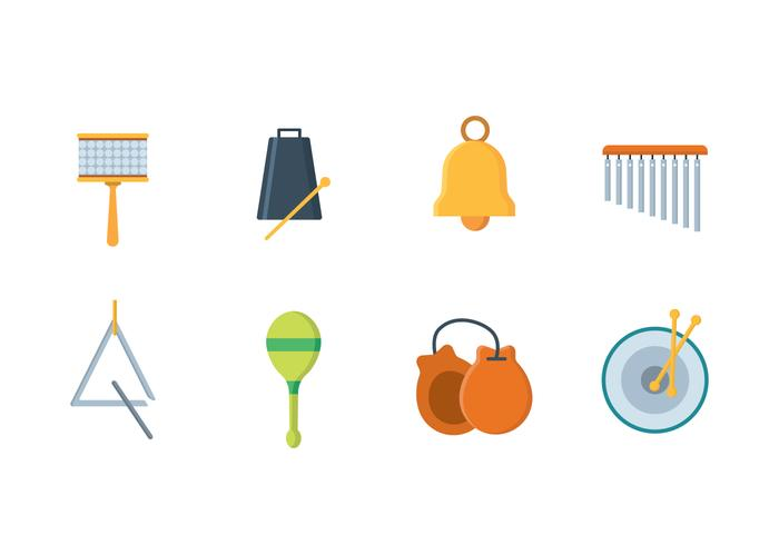 Simple Percussion Icons