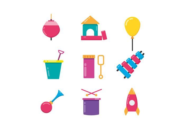 Kinder Spielzeug Icons