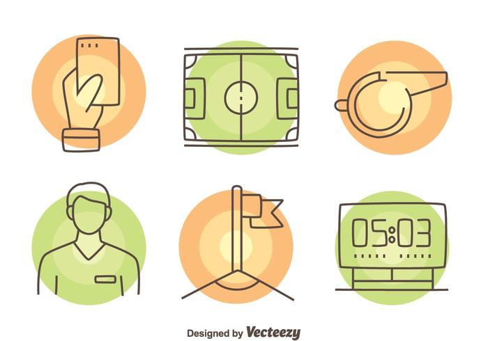 Umpire Element Icons Vector