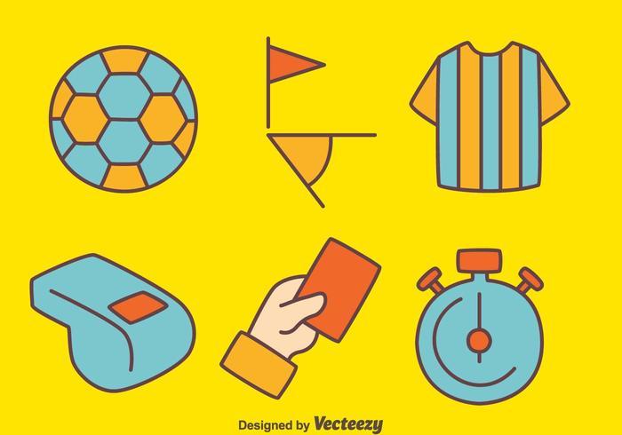 Soccer árbitro elemento de vectores