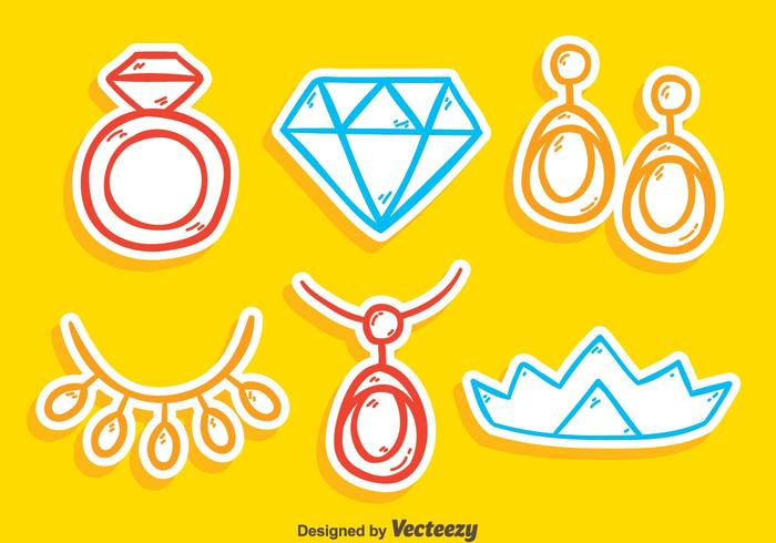 Sketch Jewelry Collection Vector