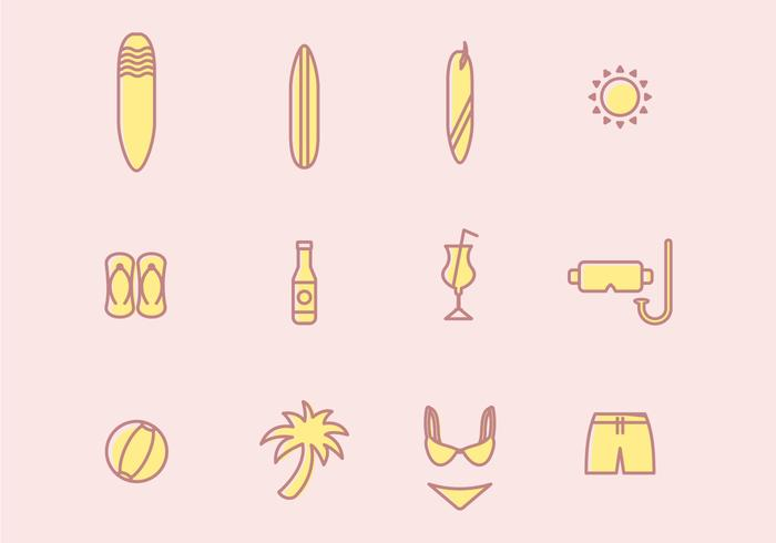 Beach Vacation Vectors