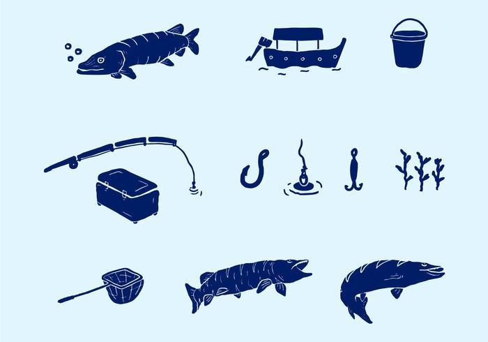 Vector Fishing Equipment