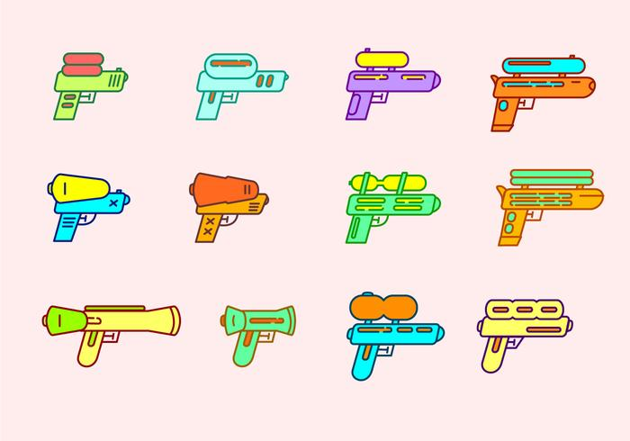 waterpistool vector set