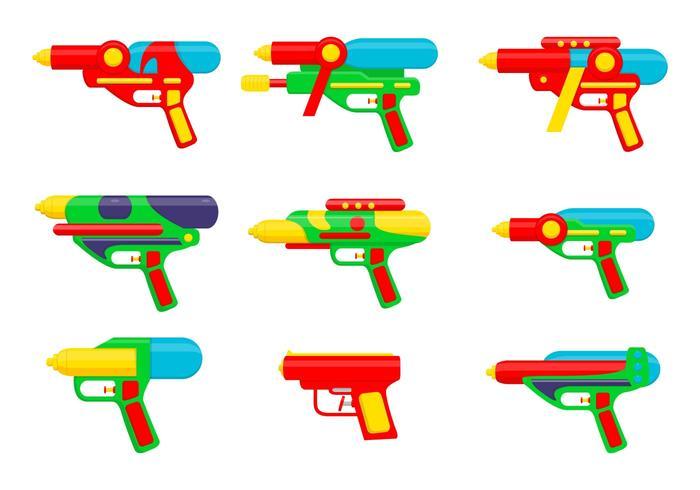Watergun cartoon vectors
