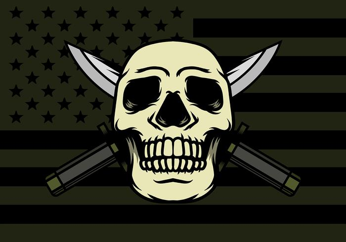 Skull With Bayonet Background