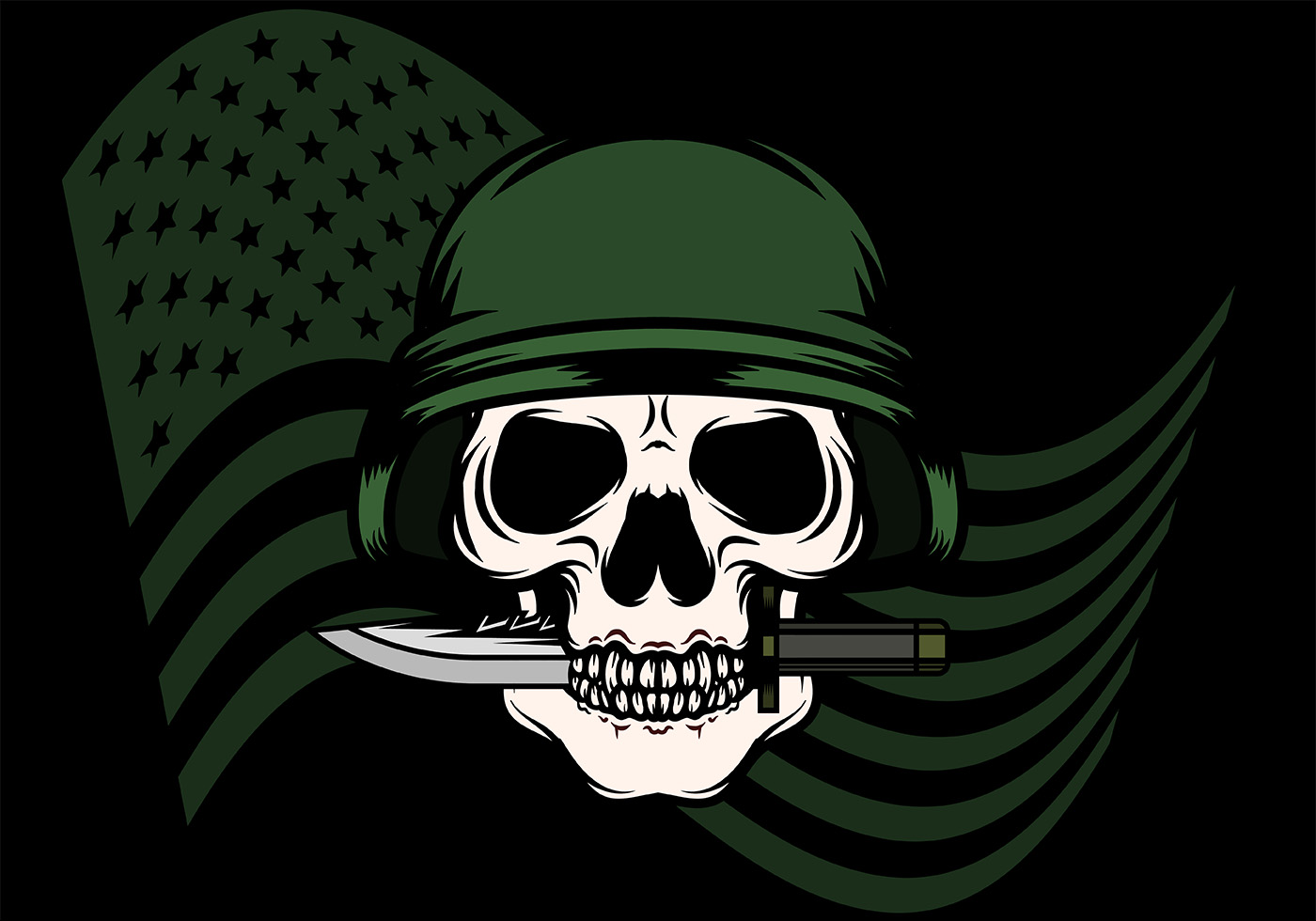 Skull With Bayonet Background Download Free Vectors