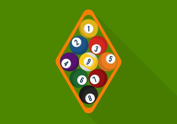 Flat 9 Ball Vectors