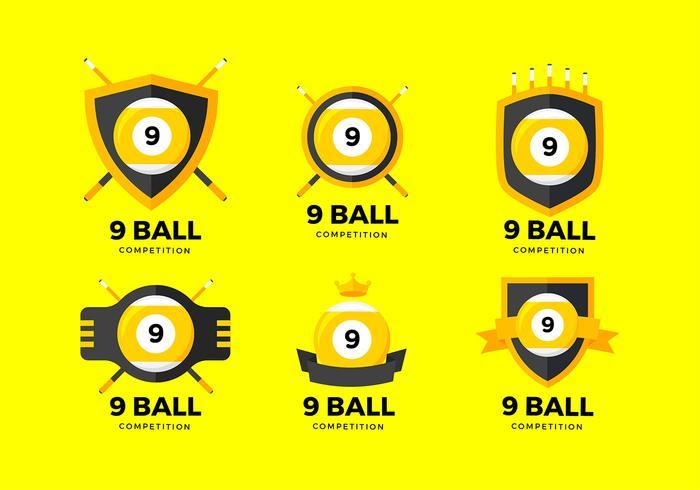 9 boll logotyp gratis vektor