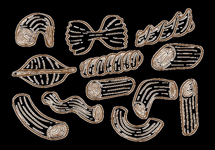 Hand Drawn Macaroni