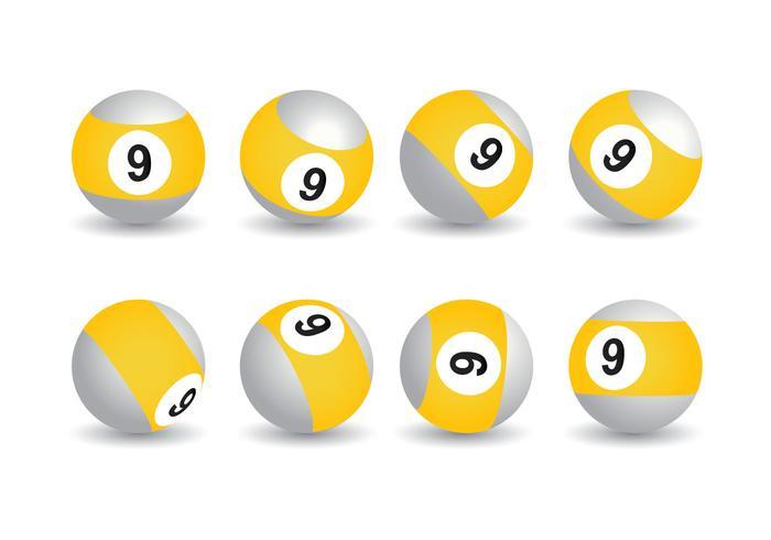 9 ball vector collection