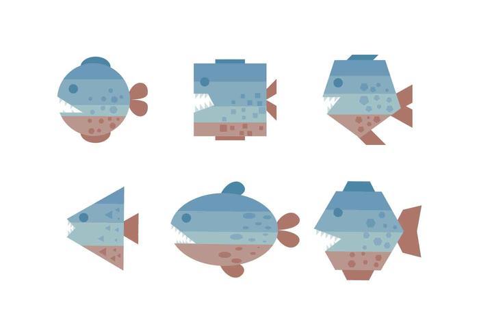 Free Outstanding Piranha Vectors
