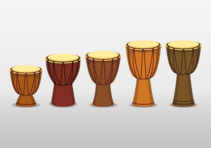 Afrikansk Djembe trumma på vit bakgrund