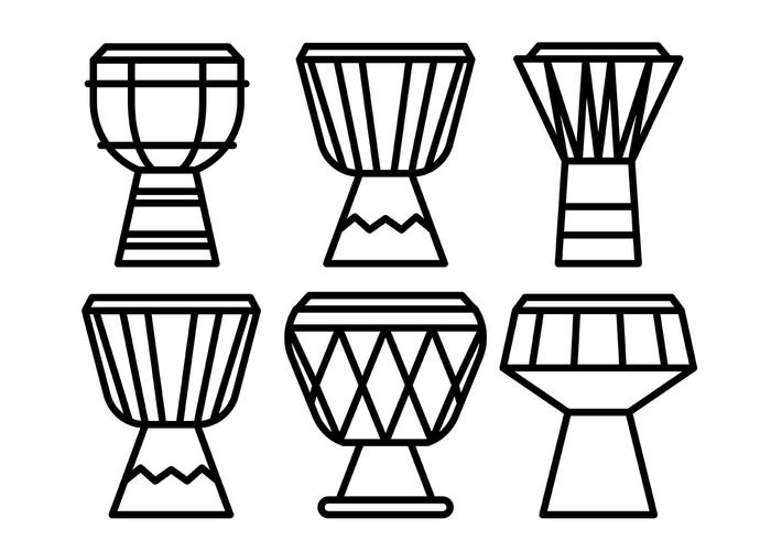 Djembe Vector Icons