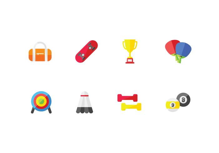 Sport and athletic set icons