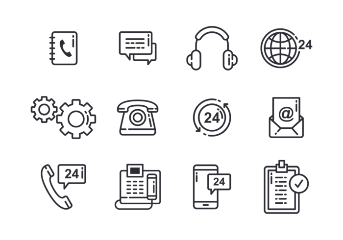 Call Centre Icons Vector