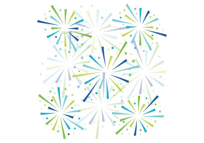 Blue Fireworks Background