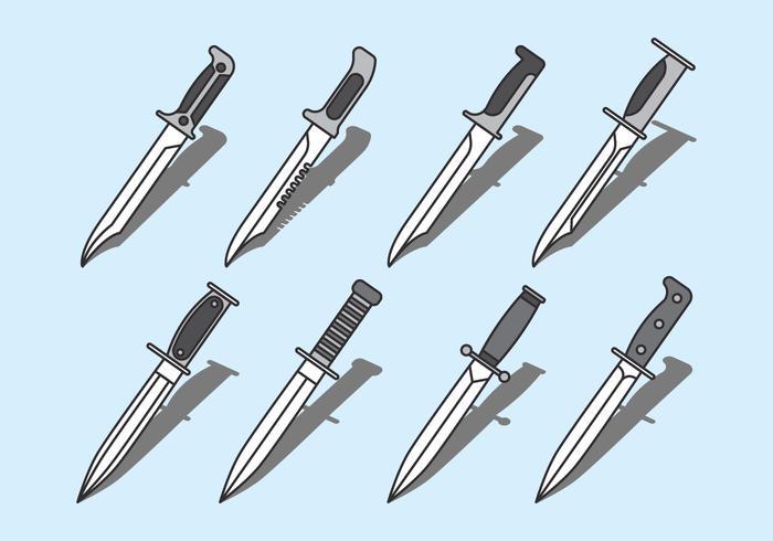 Icône des couteaux à la baïonnette